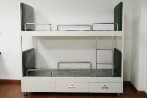Ship Bunk Bed Aluminium Bunk Bed With Powder Coating Two Drawers