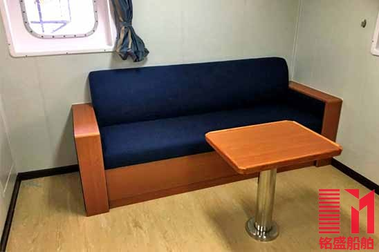 Wood Table Marine Accormmodation Furniture Ship Furniture Marine Sofa  Wooden Tea Table Laminated With Fireproof Panel