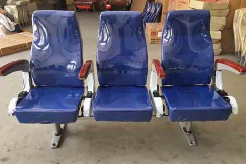 Marine passenger chair with handle - Aluminium furniture